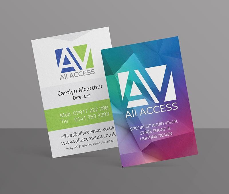 Bacon and banana Design AllAccessAV-Business Cards